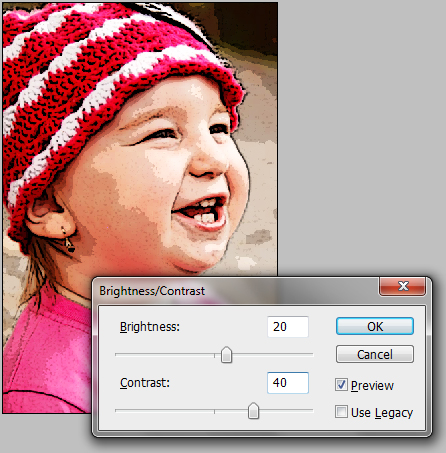 Cartoon effect photoshop filter