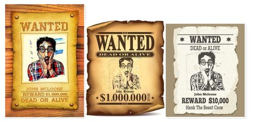 Online Cartoon Wanted Poster Maker  Free Wanted Poster Maker