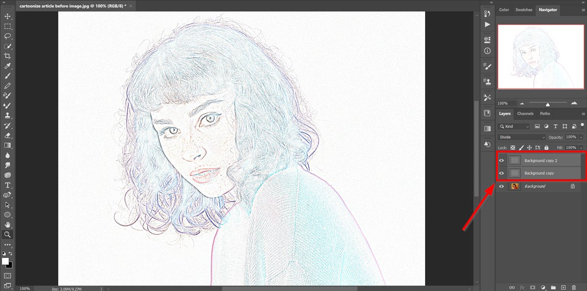 cartoonize yourself duplicate-layers-ps image